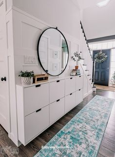 shoe storage Small Entryway Makeover using Ikea Stall shoe storage and DIY board amp; Hallway Wall Decor, Hallway Walls, Entryway Decor, Room Decor, Ikea Hallway, Hallway Furniture, Hallway Cabinet, Small Entry Decor, Kitchen Entryway Ideas