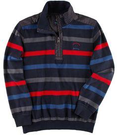 #Herrensweatshirt im frischen Streifenlook