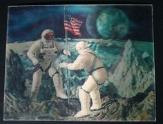Vari-Vue Apollo 11 Mission 3D Lenticular Picture by WingedPharaoh