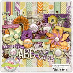 Clementine full kit freebie from Tickled Pink Studio Project Life Free, Kit Digital, Digital Scrapbooking Freebies, Journal Cards, Scrapbook Cards, Creations, Card Making, Free Printables, Crafts