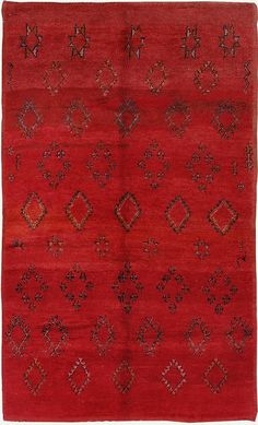 Vintage Moroccan High Atlas tribal rug - I love red!  #textile #bohemian