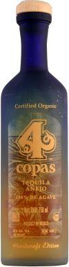 4 copas Añejo Organic Tequila