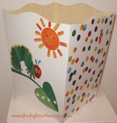 The+Very+Hungry+Caterpillar+Wastebasket www.funkyletterboutique.com | kids décor |