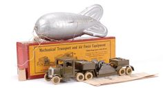 BRITAINS army lorry with winch and barrage balloon