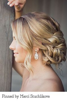 Bridal curls pinned by Marci Stuchlikova. Recreate it here: http://myhairdressers.com/hairdressing-training/session/classic-bridal-curls.html