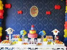 Festa provençal Branca de Neve  -  Detalhes Arte e festas  -  Whatsapp 61 9623-8434