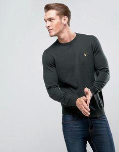 Lyle & Scott Merino Mix Sweater Khaki - Green