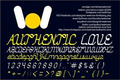 authentic love font Fonts authentic love is a font created by weknow Design. For commercial usage of this font the purchase of by weknow