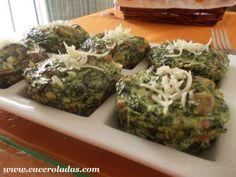 Caceroladas: Pastelitos de espinacas, jamón y champiñon