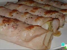 Aprende a preparar Rollitos de jamón y puerro con esta rica y fácil receta. Una receta fácil como pocas pero que te puede sacar de un apuro o darle vida al plato de la cena, sobre todo... Le Chef, Sin Gluten, Pork, Dishes, Meat, Chicken, Cooking, Recipes, Diabetes