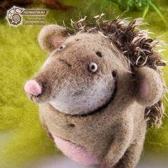 Unusual  toys. Little Hedgehog. Felting. Valentina Krasnova Collection. OOAK