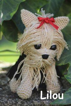 Chien Yorkshire crochet DIY modele tuto gratuit
