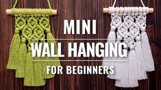 Baskets On Wall, Wall Basket, Macrame Owl, Macrame Earrings, Macrame Tutorial, Hello Everyone, Art Tutorials, Plant Hanger, Yuo Tube
