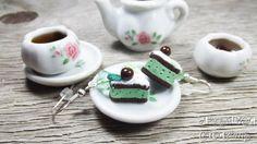 Mint Ice cream Sandwich Earrings Handmade by AndisaCharmsShop