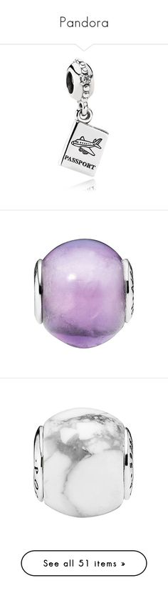 """""""Pandora"""" by allthingsbeautycat ❤ liked on Polyvore featuring jewelry, pendants, charms, cz jewelry, charm pendants, pandora charms, pandora jewelry, sterling silver jewelry, purple and purple amethyst jewelry"""