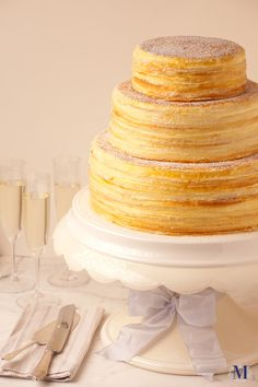 How amazing is this......a crepe cake, yum!