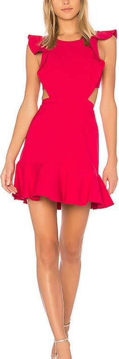 BCBGMAXAZRIA Nicole Dress. Valentines day outfit ideas, red dress, spring outfit ideas, summer outfit ideas, date night outfit. #womensfashion #ad #springoutfits #summeroutfits #valentinesideas #valentinesdayoutfit