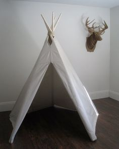 redoe Brennan's room for his birthday! 6 ft Fold Away Canvas Teepee. $150.00, via Etsy.