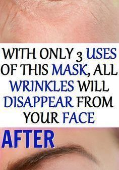 With Only 3 Uses Of This Mask All Wrinkles Will Disappear From Your Face! Health Clear Skin Health Remedies Health Tips Health For women Health Natural Health Tips Face Care Routine, Face Care Tips, Skin Care Tips, Diy Masque, Face Cream For Wrinkles, Eyeshadow Tips, Health Routine, Beauty Tips For Face, Beauty Secrets