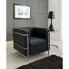 LC2 Genuine Leather Stainless Steel Frame Armchair | Overstock.com Shopping - Great Deals on Modway Chairs