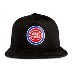 Detroit Players Snapback Hat - Black