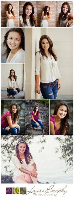 Senior picture girl poses