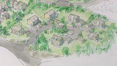 7 houses Hektner Sketch