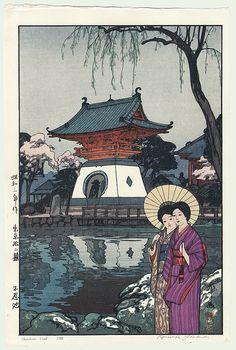 shinobazu pond / 1928 / hiroshi yoshida / 1876 - 1950 / fuji arts