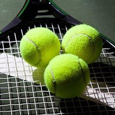 About Tennis Balls:  It is estimated that nearly 300 million tennis balls are manufactured each year, so chances are you've got some lying around your home. Why not put them to work? From massaging your foot to sanding curved wood, here are five new ways to use tennis balls.