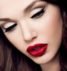 Try a bold lip color on a photo of yourself using our MakeUp app! http://itunes.apple.com/us/app/makeup/id314603460?mt=8