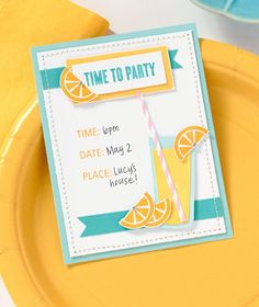 Time to Party! Make your own invitations for birthday parties or any other spring celebrations.