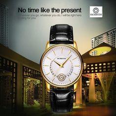 (42.0$)  Know more  - OCHSTIN Brand Luxury Genuine Leather Quartz Casual Women's Watches Sapphire Fashion Unique Ladies Wristwatch + Watch Box