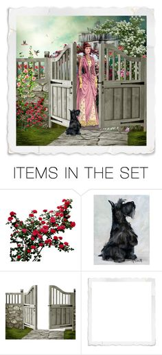 """""""Aunt Mae's garden"""" by lindafaulkner-adams ❤ liked on Polyvore featuring art"""