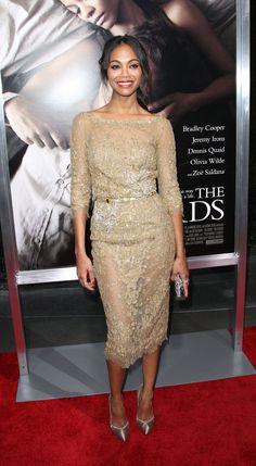 "Zoe Saldana at ""The Words"" LA premiere."