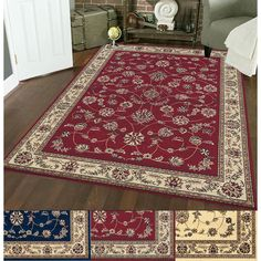Admire Home Living Amalfi Flora Area Rug - 14805900 - Overstock - Great Deals on Admire Home Living 7x9 - 10x14 Rugs - Mobile