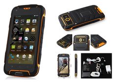 Futuretech® F6 IP68 Waterproof Dustproof Shakeproof Smartphone Rugged Android 4.4 Phone Mtk6582w, Quad Core, 1.3ghz; 1GB RAM+8GM ROM WIFI 3G Unlock Smartphone GSM/WCDMA Built-in GPS + Compass Outdoor Hiking Traveling Smartphone (Yellow)