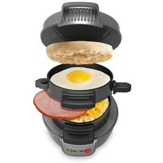 Forgo the drive-through windows in favor of this easy-to-use, nonstick breakfast-sandwich maker. Load up eggs, precooked meat, veggies and bread, wait five minutes and --voila! -- instant meal. Amazon has one for $25