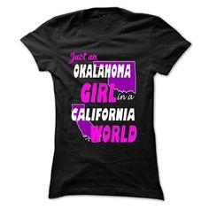 Oklahoma Girl In California World T-Shirts Hoodies Sunfroghttps://www.sunfrog.com/States/Oklahoma-Girl-In-California-Wo-Black-Ladies.html?81633