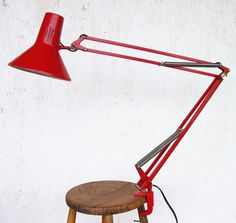 Red Luxo Lamp, Luxo Lamp, Red Lamp, Architect Lamp, Desk Lamp, Industrial Lighting, Design Lamp, Mid Century Modern by EmPragmata on Etsy