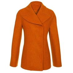 JIL SANDER Minimal virgin wool peacoat ($1,005) ❤ liked on Polyvore