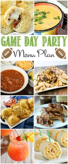 More than 10 amazing game day recipes that everyone will love! Perfect for watching the big game!
