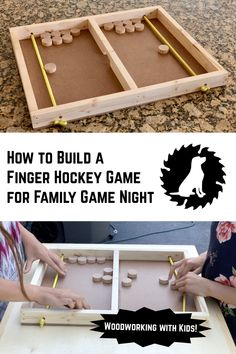DIY Finger Hockey Game – White Lab Workshop wood projects projects diy projects for beginners projects ideas projects plans Diy Craft Projects, Crafts For Kids, Wood Projects For Kids, Project Ideas, Projects To Try, Beginner Woodworking Projects, Diy Woodworking, Woodworking Techniques, Woodworking Furniture