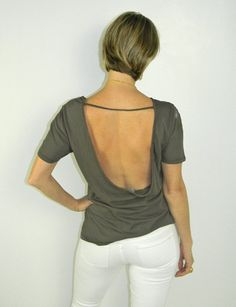 Love this choc brown low back tee - it's onlt $34 on www.scoutandmollys.com