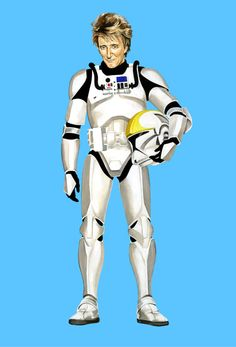 Thought republic troopers were cloned from Jango Fett's DNA?  You're sadly mistaken.  It was definitely Rod Stewart's DNA.