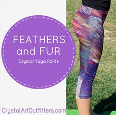 Mountain Pose! These are our Feathers and Fur Crystal Yoga Pants. The print texture on POPs!