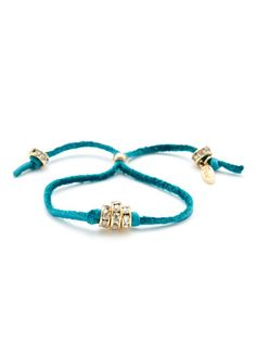 Ettika Jewelry Crystal Bead & Leather Cord Bracelet
