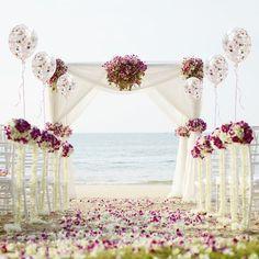 Four Fun and Beautiful Beach Wedding Reception Decor Ideas Beach Wedding Reception, Beach Wedding Flowers, Beach Ceremony, Wedding Venues, Beach Weddings, Wedding Ideas, Wedding Ceremony, Destination Weddings, Unique Weddings