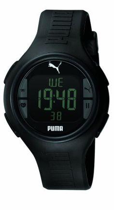 PUMA Men's PU910541001 Pulse Black Heart Rate Monitor Watch PUMA. $85.00