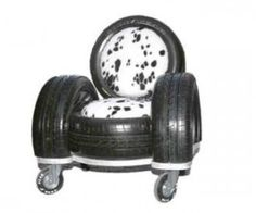 Tire furniture - a craft my son should try. Would use old racing T's for the upholstery