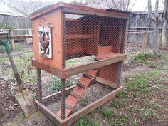 Small, moveable chicken coop